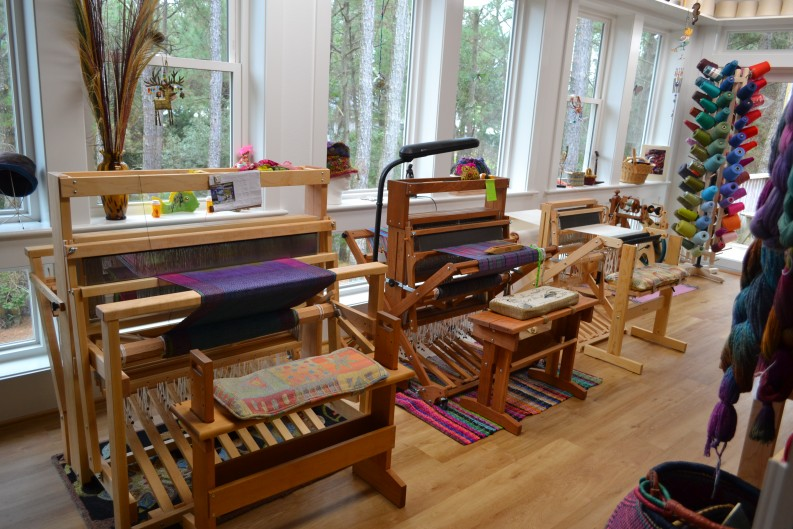 Loving my new Studio space and Schacht Baby Wolf Loom!