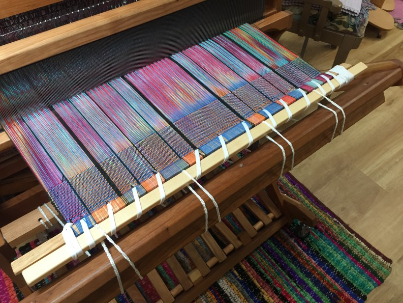 Schacht Cherry Baby Wolf Weaving Loom Spinning Wheels and Hand Dyed Pre-Wound Warps